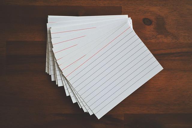 Fiszki - świetny sposób na naukę słownictwa