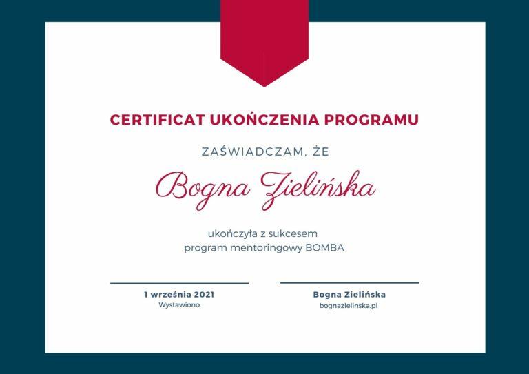 Copy of certyfikat Ania 4 768x543 - BOMBA